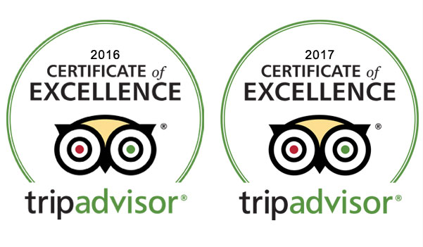 Tripadvisor Certificate of Excellence 2016 2017